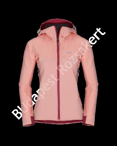 Zajo Air LT Hoody W Jkt  női softshell kabát, seashell pink