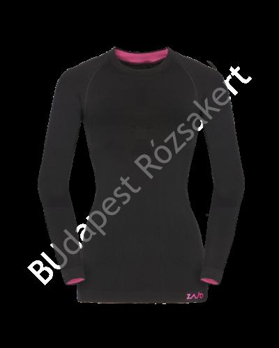 Zajo Contour W T-shirt LS női strech hosszú ujjú aláöltözet felső, fekete