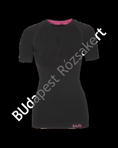 Zajo Contour W T-shirt SS női strech rövid ujjú aláöltözet felső, fekete