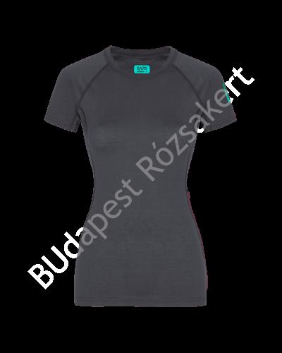 Zajo Elsa Merino W Tshirt SS női rövid ujjú gyapjú aláöltözet felső, sötétszürke