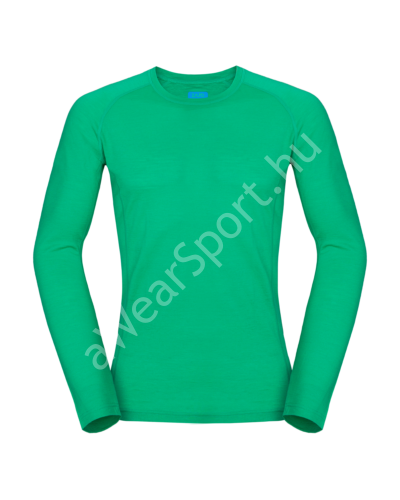Zajo Bjorn Merino Tshirt LS férfi merinói gyapjú aláöltözet felső, bright green