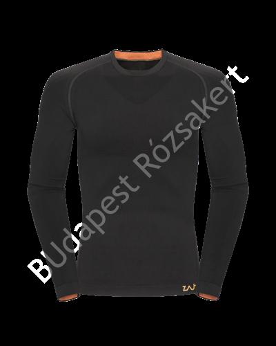 Zajo Contour M T-shirt LS férfi strech aláöltözet felső, fekete