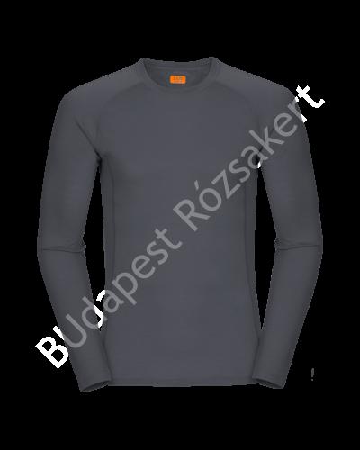 Zajo Bjorn Merino Tshirt LS férfi merinói gyapjú aláöltözet felső, szürke