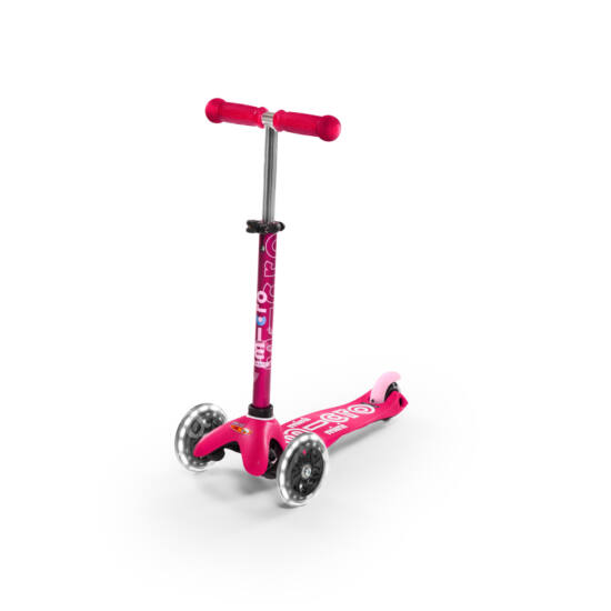 Mini Micro Deluxe LED gyerek roller világító kerékkel, pink