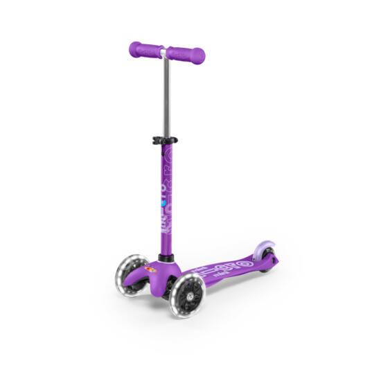 Mini Micro Deluxe LED gyerek roller világító kerékkel, lila