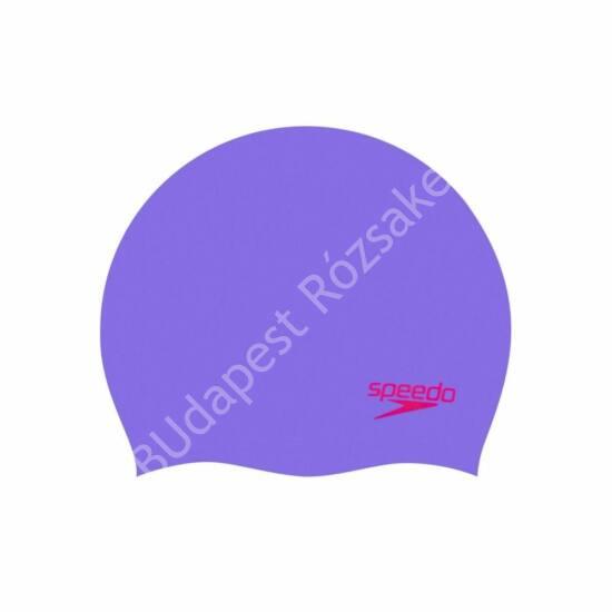 Speedo Junior Plain Moulded Silicone Cap úszósapka, lila