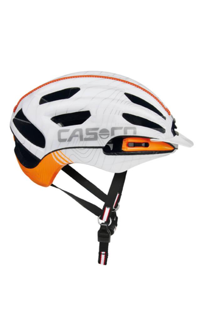 Casco Air RCC kerékpáros bukósisak, fehér-narancs, 56-59 cm