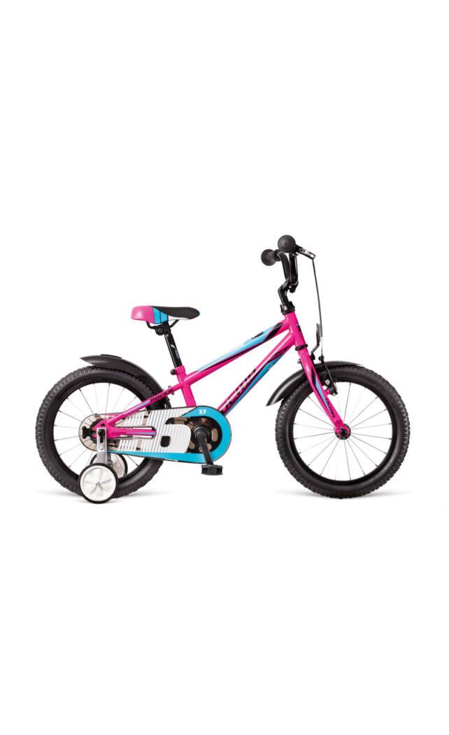 DEMA Rockie 16 gyermek kerékpár, pink 95-115 cm testmagasság, 9.1 kg