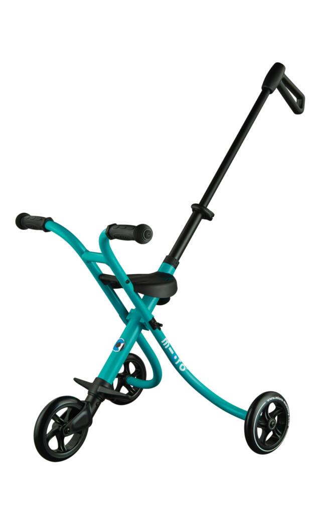 Micro Trike XL háromkerekű, tologatható tricikli, aqua