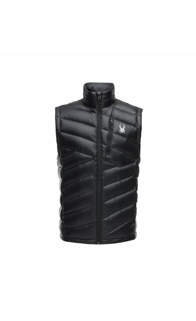Spyder Syrround Down Vest férfi pehely mellény, fekete