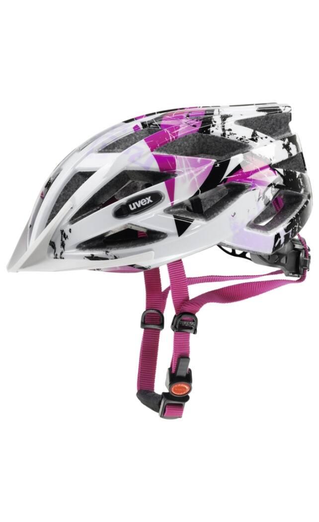 Uvex Air Wing kerékpáros bukósisak, fehér-pink, 52-57 cm