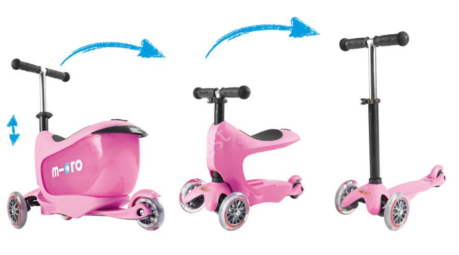 micro mini2go deluxe plus roller tologat r ddal pink a wear sport roller ker kp r. Black Bedroom Furniture Sets. Home Design Ideas