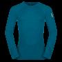 Kép 1/4 - Zajo Bergen Merino T-Shirt LS férfi merinói gyapjú aláöltözet felső, deep lagoon, 2XL